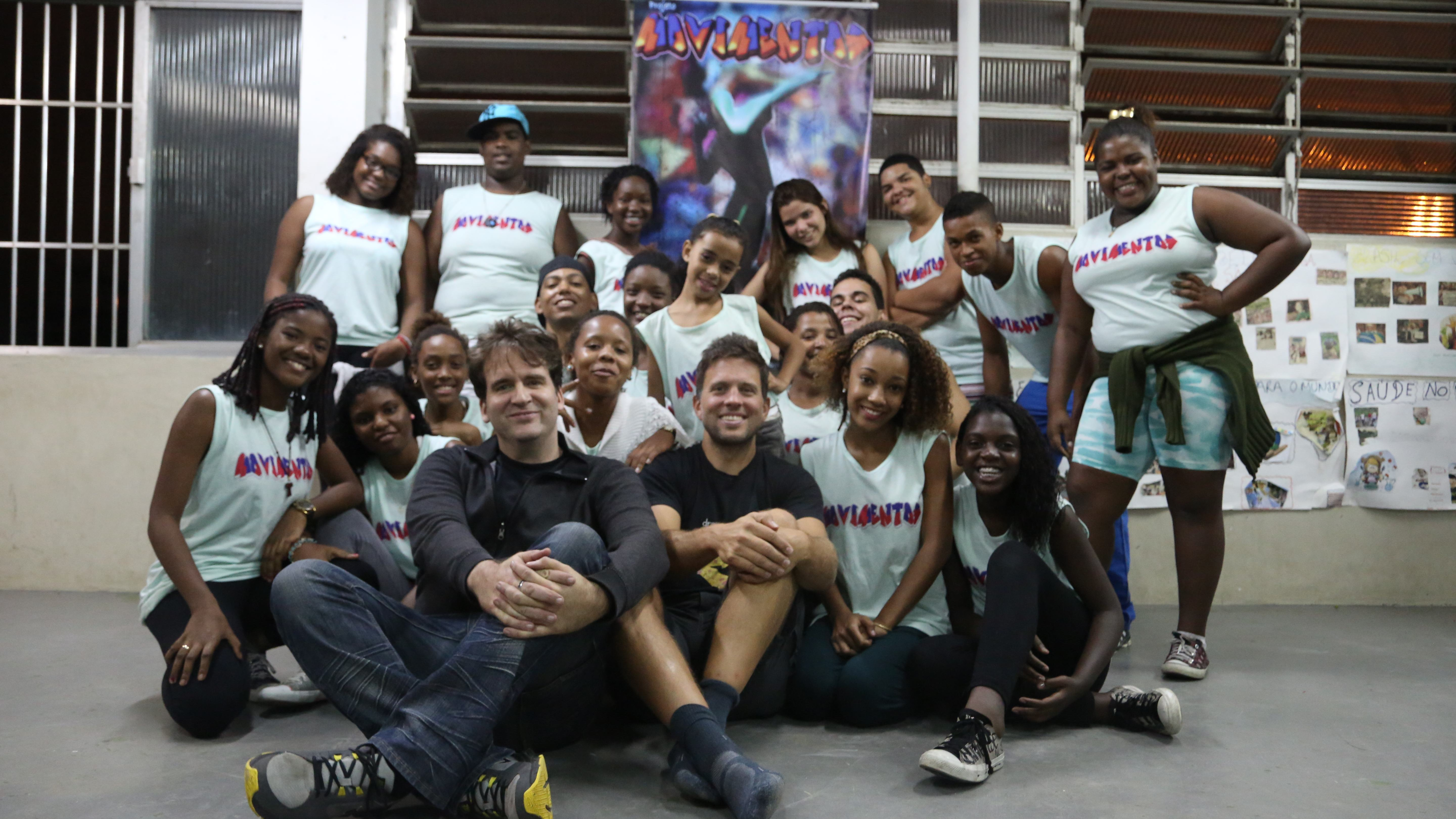 Adany Lima runs the only youth dance troupe, Movimentos, in Cidade de Deos, a favela made famous by a movie of the same name.