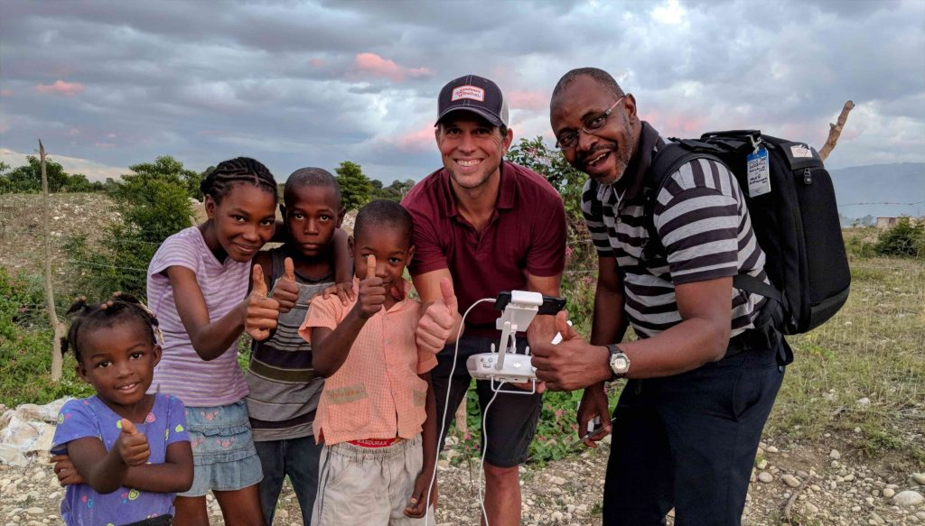 Video team in Haiti